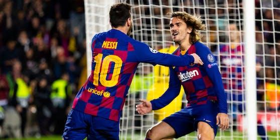 Griezmann (r.) und Messi