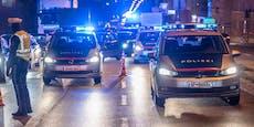 Betrunkener folgt Frau bis zu Polizei und zuckt aus