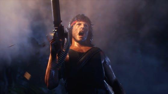 "Rambo prügelt sich in""Mortal Kombat 11 Ultimate""."
