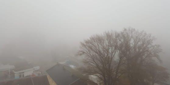 Dichter Nebel in der Bundeshauptstadt.