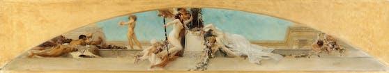 """Gustav Klimts Entwurf für das Deckengemälde """"Altar des Dionysos"""", 1886"""