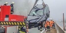 Filmreife 200-km/h-Verfolgung endet mit Crash auf A2
