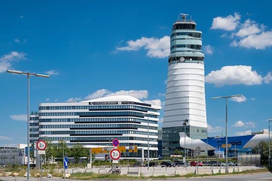 Der Tower am Flughafen Wien. Schwechat.