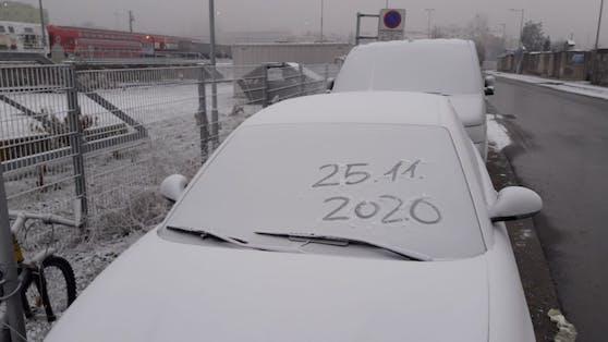Schnee in Graz am Mittwoch, 25.11.2020