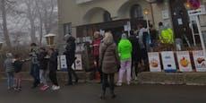 Punschstand vor Wiener Gasthaus sorgt für Wirbel