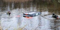 """Mitten am Golfplatz: Auto im Teich """"eingelocht"""""""