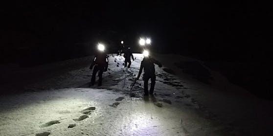 Über unwegsames Gelände verlief der Abstieg