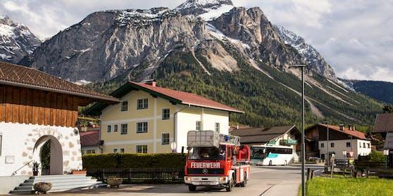 Österreichische Feuerwehr in Ehrwald, Tirol (Symbolbild)