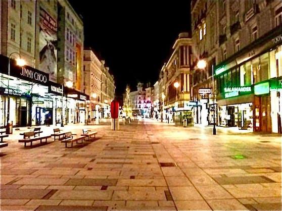 Fotoaufnahme von Günther Sidl nach dem Terroranschlag in der Wiener City