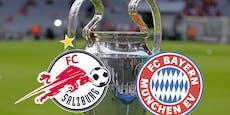 Salzburg gegen die Bayern heute mit Trauerflor