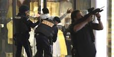 Täter-Wohnung aufgesprengt, Razzien und Festnahmen