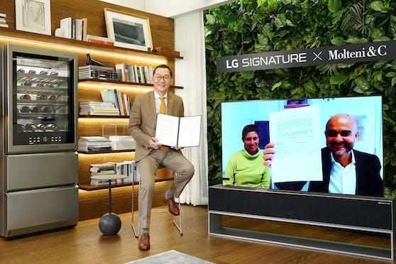 LG und Molteni&C S.P.A kooperieren.