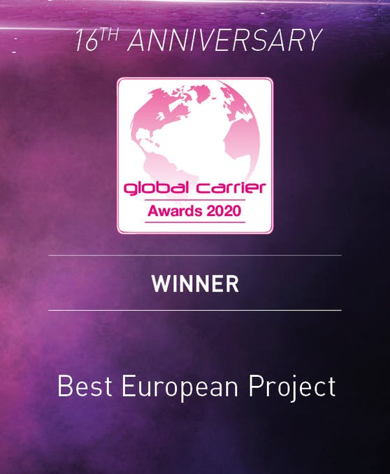 """""""Dark Fiber"""" bekam """"Global Carrier Award 2020""""."""