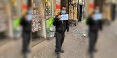 Essenslieferant in Wien gezwungen zu betteln