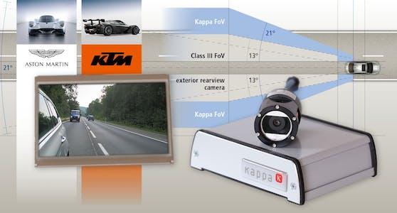 Bahnbrechender digitaler Außenspiegel für aufregende Autos.