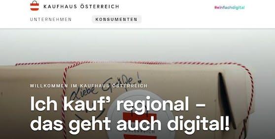"""""""Kauf regional, das geht auch digital - das ist das Motto des 'Kaufhaus Österreich'."""""""