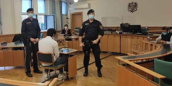 Der Angeklagte vor dem Wiener Landesgericht.