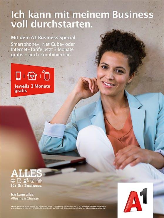 A1 Business Special: Smartphone, Net Cube- oder Internet-Tarife jetzt 3 Monate gratis.