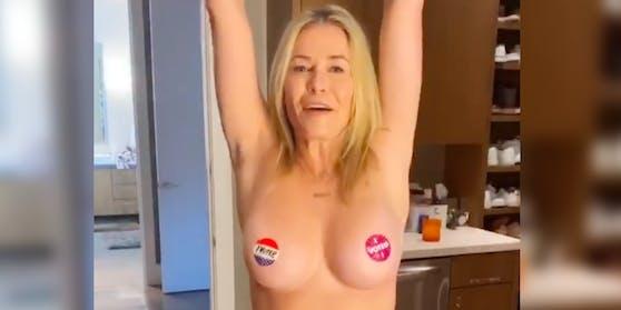 Chelsea Handler macht auf effektive Weise auf das Wahlrecht aufmerksam.