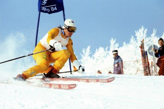 Steven Lee 1984 bei den Winterspielen in Sarajevo.