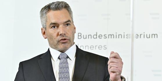 Innenminister Karl Nehammer (VP)