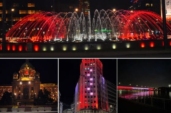 Belgrad in rot-weiß-rot