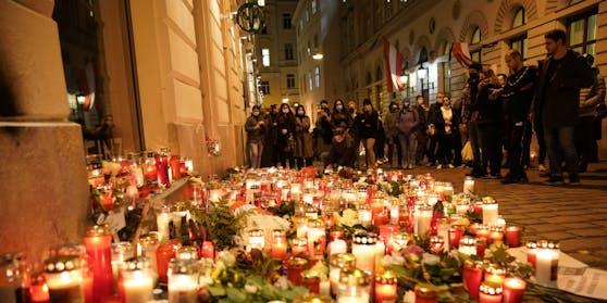 Die Wiener trauern und gedenken der Opfer des Terror-Anschlags.