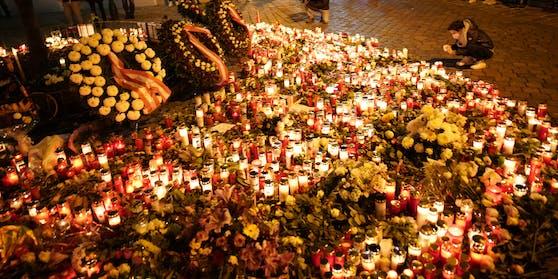 Die Wiener trauern und gedenken der Opfer des Terroranschlags.