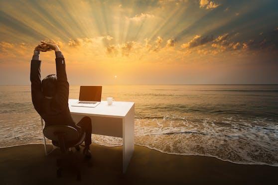 Home Office im Paradies? Eine Frage des Arbeitgebers.