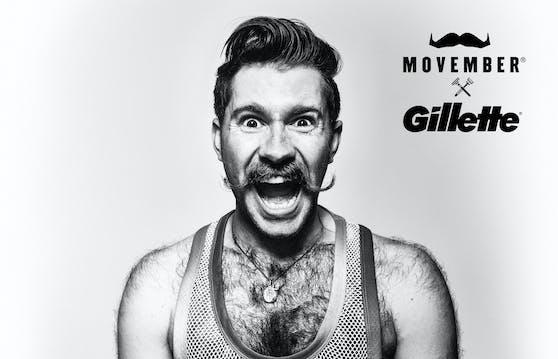 Männergesundheit zum Thema machen #MutZumMo: Gillette ist neuer Partner der Movember-Stiftung.