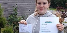 Schülerin (12) backte Kuchen gegen Spende für Tiere