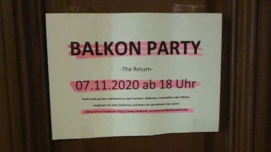 Diese Ankündigung entdeckte ein Leser in Wien-Döbling