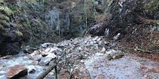 Heftiger Steinschlag im Bezirk Neunkirchen
