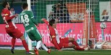Rapid erkämpft ein 1:1 im Spitzenspiel gegen Salzburg
