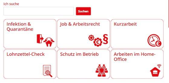 Arbeiterkammer und ÖGB bieten online auf jobundcorona.at umfassende Informationen.