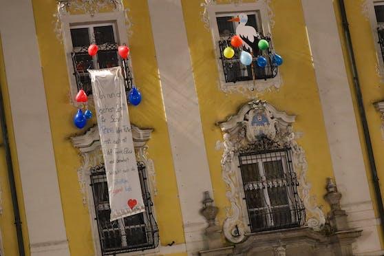 Am Welser Rathaus wurde sogar ein Storch aufgehängt.