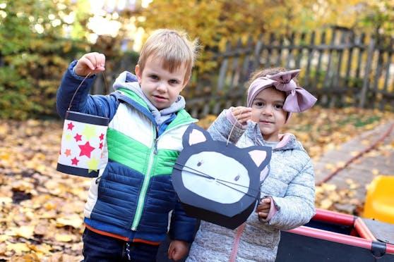 Um den Kindern Normalität und Kontinuität zu bieten, wird auch heuer in den Wiener Kindergärten das Laternenfest gefeiert. Dafür wurde in den vergangenen Wochen fleißig gebastelt.