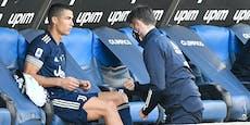 Verletzt ausgewechselt! Juventus bangt um Ronaldo