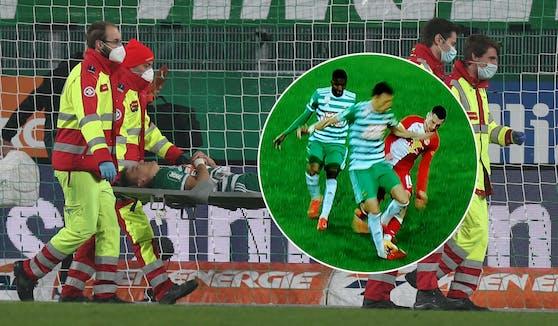 Dejan Ljubicic schied gegen Salzburg verletzt aus.