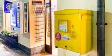 Frau blieb mit Hand in Postkastl-Schlitz stecken