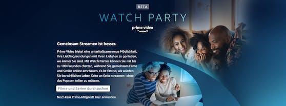 Filme und Serien gemeinsam erleben – Prime Video startet Watch Party in Deutschland.