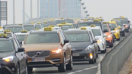 Tausende Taxis rollten am Dienstag durch Wien.