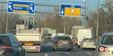 Verkehrs-Chaos auf Wiener Tangente nach Crash mit Autos