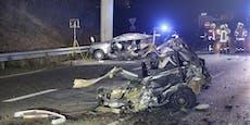 Polo bei Crash in 2 Teile gerissen – Fahrerin (21) tot