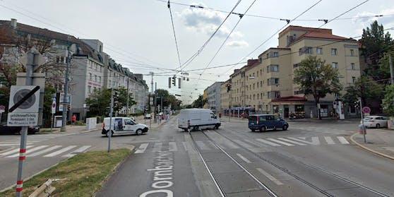 Die Kreuzung Hernalser Hauptstraße / Güpferlingstraße