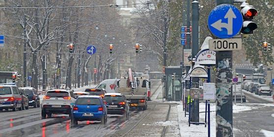 In Wien schaut der Schnee vorbei.