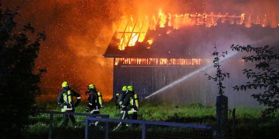 """Es brannten """"landwirtschaftliche Liegenschaften"""", so die Pressestelle der Polizei auf """"Heute""""-Anfrage. Symbolfoto."""