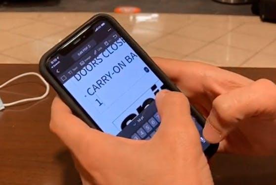 Mit einer Handy-App veränderte Rob K seinen Boarding Pass