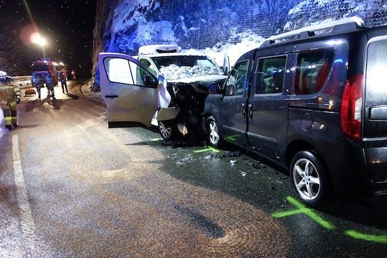Verkehrsunfall mit Personenschaden auf der Fernpassstraße in Reutte am 10. Dezember 2020