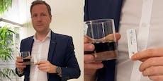 FPÖ-Mann liefert mit Cola-Trick Corona-Aufreger